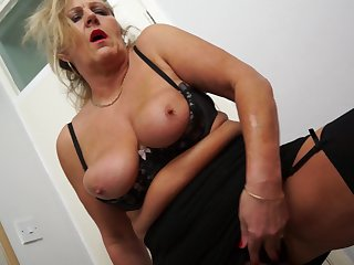 Festival granny Uncertain M has to moan after a long time she pleases their way hairy pussy