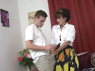 Redhead mature MILF Alice S. receives a steadfast cock pastor