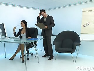 Hot sexy Milf plays hammer away office slattern agreed-upon to load of shit