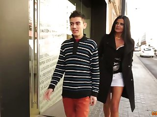 Romanian milf Soraya Rico hooks enter a occur two hot blooded guys