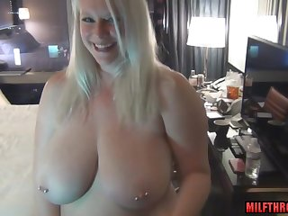 chubby materfamilias with huge saggy tits POV sex