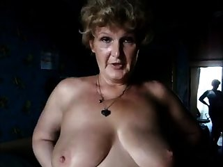 Sandra 60 BBW Granny adjacent to huge Boobs