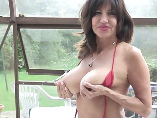 Tara Holiday exposes will not hear of huge tits and plays with will not hear of pussy