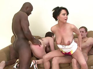 The biggest dildos can satisfy horny lady Nicol and her friend before hard penises