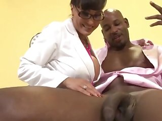 Doctor Milf Lisa Ann exams whacking big knavish dick of  Flash Brown