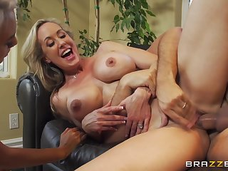 Two spunky blondes like one another off their amazing cock handling skills