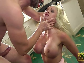 silicone blonde Cindy Sun adores as soon as the brush lover cum on the brush light