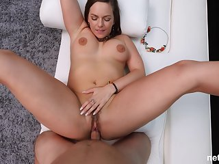 chubby milf Raye spreads her legs for the best cum always with a stranger