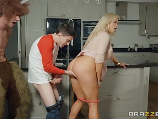 Horny British woman is happy about this young pecker!