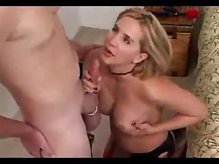 Full-Bosomed blondie calls the plumber