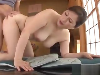 Mature Japanese Babe Uses Her Pussy To Surrebuttal Her Man