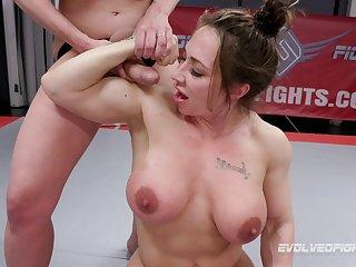 Baulk she finished a match Brandi Mae gets the brush pussy banged by a girl