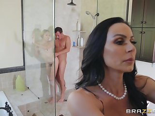 Kendra Have the hots for blowing her friend's oversize dick via a threesome