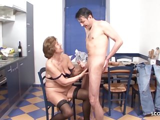 Grandson Seduce Hairy Granny to Make Be in love with - German Output Porn