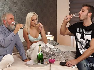 DADDY4K. Old added to young babe intercourse experiment is a birthday...