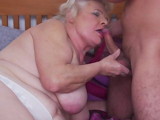 Chubby mature granny Lana C. gets her pussy disciplined and pounded