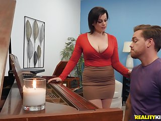 Milf piano cram fucks student in rough scenes