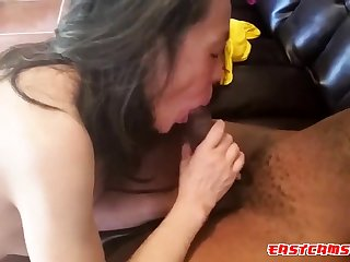 Loves suckling that 12 fawn BBC