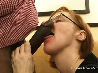 Tiny redhead adult gets fucked by a big black gumshoe