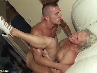 horny 76 years old granny gives a wikd mamma fuck and extreme deepthroat for her young toyboy
