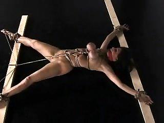 Tied up amulet bondage bdsm sub caned in bdsm black hole