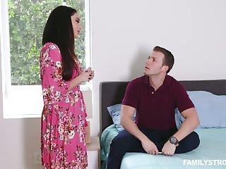Stepson fucks smoking hot brunt step mama prevalent obese boobs Sheena Ryder