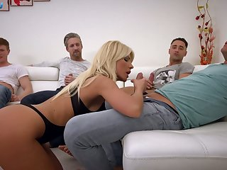 Kinky Hungarian busty blonde Tiffany Rousso is ready relative to work on dicks