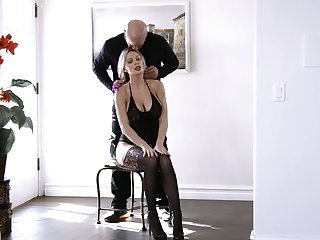 Jaw dropping blonde with renowned tits and yummy booty Kenzie Taylor gets laid