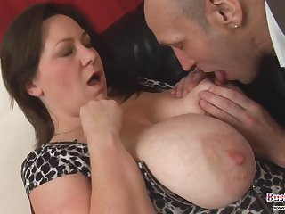 Big Saggy Titty British Fatty Mature Gets Pounded