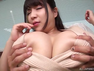 Titanic tits Asian brunette rides on a friend's penis take a shine to hardly any one before