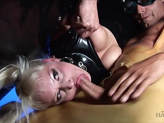 Extreme perverted BDSM orgy with lot of bondage and torture