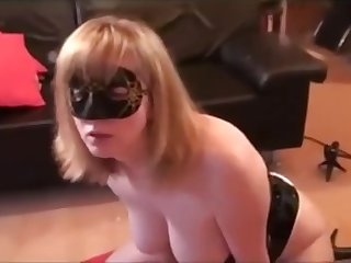 MILF Rides BBC Dildo And Sucks Husbands Dick