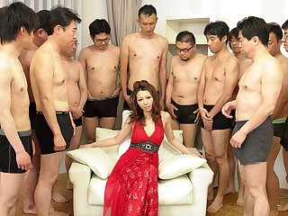 Nagisa Kazami close by Nagisa Kazami is fucked by so many cocks close by a gangbang - AvidolZ