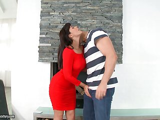 British seductress Ava Dalush gets say no to hairy pussy fucked added to licked