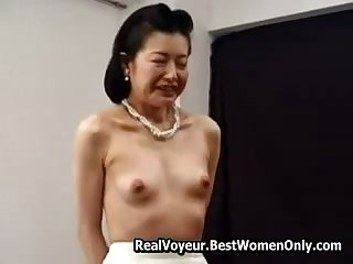 Micro Asian Japanese Granny Fucked With Toys 6