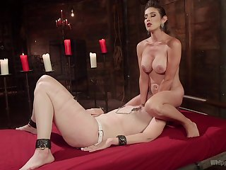Fine femdom leads these two anent insane orgasms