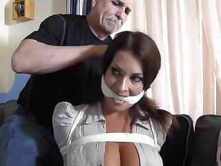 Busty dutiful MILF tied and punished less bondage - fetish