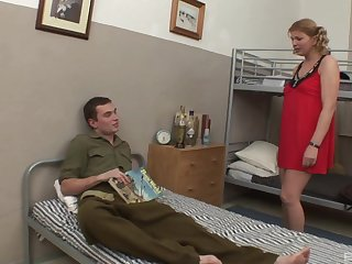 Fat mature in red glad rags spreads their way legs and gets penetrated