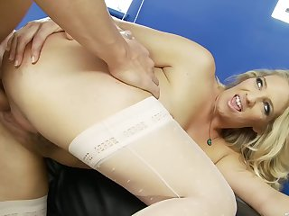 Blonde wife wants a flash be required of her boss's large dong