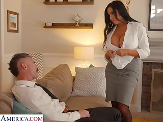 Whore wife with king size boobs Sybil Stallone is cheating on will not hear of husband with his VIP