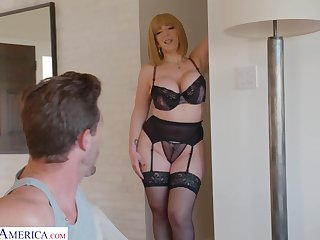 Curvaceous mommy in sexy underclothing Sara Jay seduces young stepson