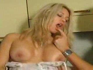 Busty light-complexioned stunner cuckolding say no to boyfriend