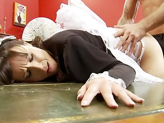 Naughty Horny Maid Gets Fucked Unconnected with her Boss with Big Cock