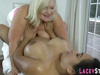 Senior british whore fingering chubby latina daughter