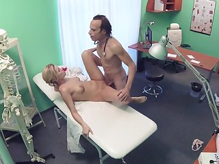 Erotic castle in the air noisome out of reach of cam between the doctor and the nurse