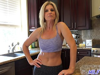 Horny housewife is ready to flash will not hear of special to will not hear of neighbor