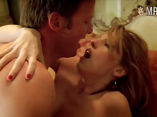 Stunning buxom Kelly Reilly with the addition of her nude scene with boobies flashing