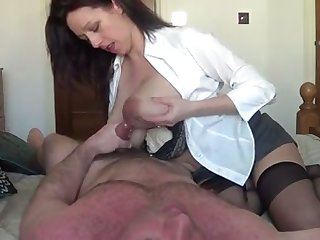 My frightfully hot wife with chunky lactating confidential is riding me with love