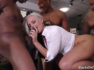 Alena Croft is a smoking hot blonde milf with big tits, who likes black guys