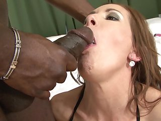 Interracial bang on a moulding take sex bomb Alex Fe coupled with a obese black load of shit